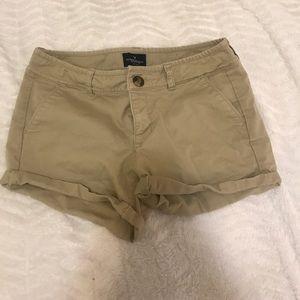 Khaki American eagle shorts